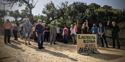 Μπλόκο κατοίκων για την μεταφορά ανεμογεννητριών στην Ιεράπετρα