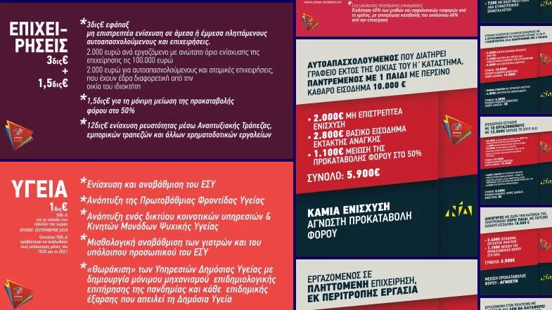 """Το πρόγραμμα """"Μένουμε όρθιοι ΙΙ"""" του ΣΥΡΙΖΑ σε πίνακες / παραδείγματα"""