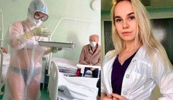 Η 23χρονη Νάντια, που δουλεύει στο τοπικό νοσοκομείο της Τούλα
